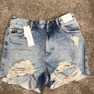 TopShop Mom Jean Shorts High Waisted